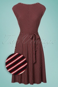 70s Grace Slim Shady Swing Dress in Ruby Red