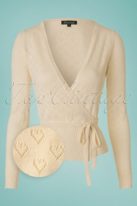 King Louie  Wrap Heart Cardigan Cream 110 57 12277 20140115 0002wv