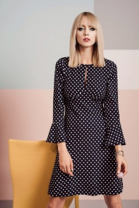 Closet London Split Neck Polkadots and Hearts Dress 106 39 24452 20180109 02