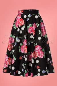 Bunny Collarette 50's Skirt in Black 24081 20171222 0009W