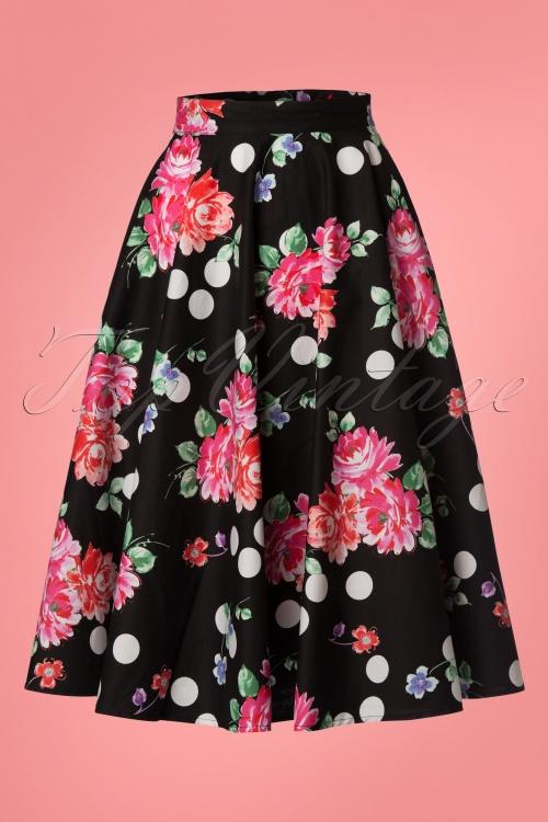 69866b262fe Bunny Collarette 50 s Skirt in Black 24081 20171222 0009W
