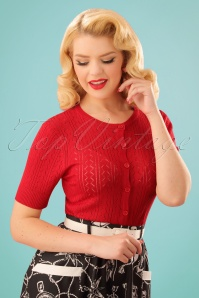 50s Loretta Cardigan in Red