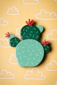 Cuddly Cactus Brooch Années 50 en Vert