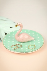 Sass & Belle Tropical Flamingo Trinket Dish Années 60