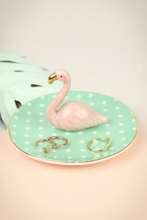 Sass&Belle Tropical Flamingo Ring Jewellery Dish 290 29 24627 002