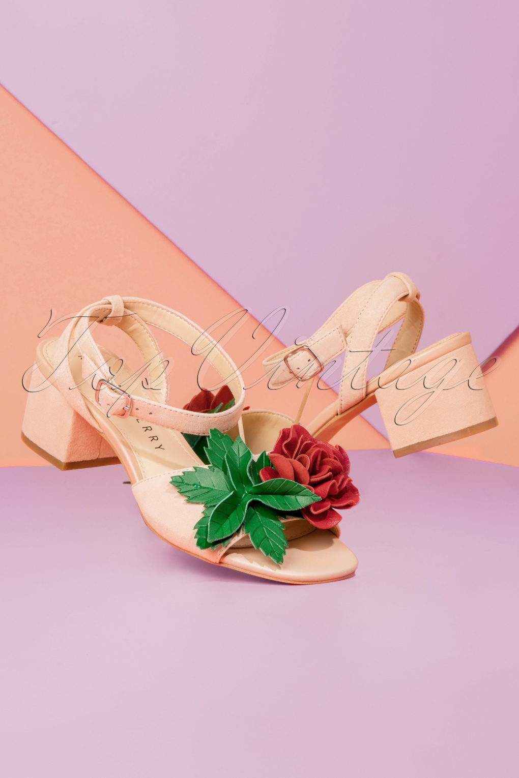 1960s Inspired Fashion: Recreate the Look 60s Elanor Suede Sandals in Blush Nude £115.09 AT vintagedancer.com