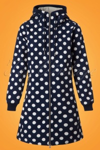 Danefae Jane Softshell Coat in Navy with Polkadots 153 39 23519 20180116 0005w