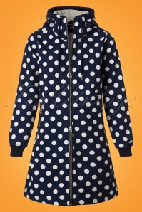Danefae Jane Softshell Coat in Navy with Polkadots 153 39 23519 20180116 0004w