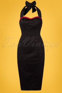 Collectif Clothing Sadie Pencil Dress in Black 22835 20171121 0004W