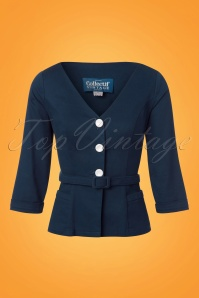 Collectif Clothing Charlotte Jacket Navy 22533 20171122 0002w