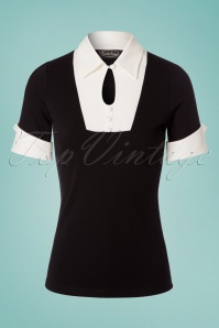 60s Franchesca Shirt in Black and White