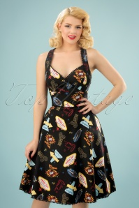 50s Lucy Vegas Swing Dress in Black