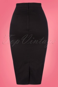 Collectif Clothing Bettina Pencil Skirt Black 120 10 22804 20180119 0005W