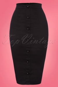 Collectif Clothing Bettina Pencil Skirt Black 120 10 22804 20180119 0002W