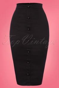 50s Bettina Pencil Skirt in Black