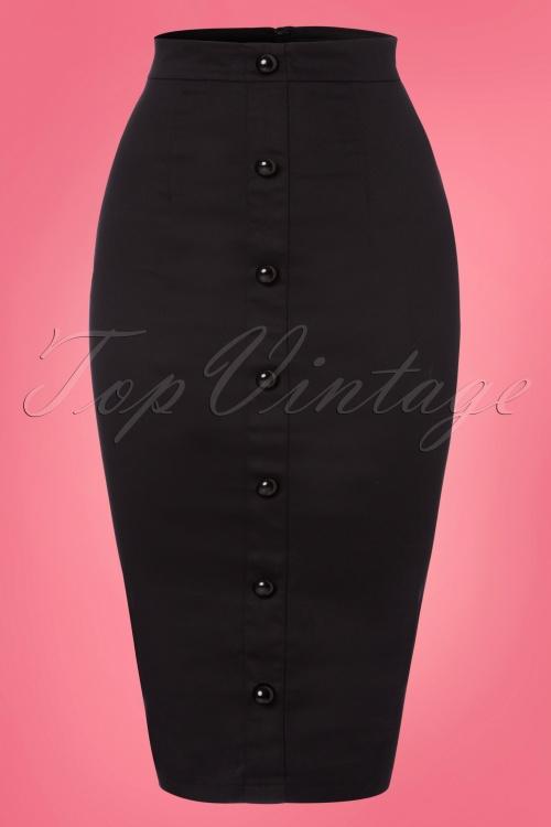 Collectif Clothing Bettina Pencil Skirt Black 120 10 22804 20180119 0002W