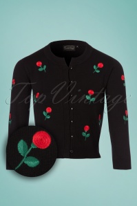 Vixen Roses Cardigan in Black 140 14 23250 20180119 0002W1