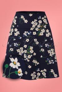 King Louie Border Skirt Littlebell in Blue 23083 20171221 0001W1