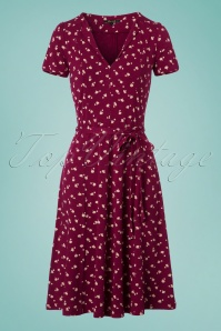60s Lou Chatter Dress in Beaujolais Red