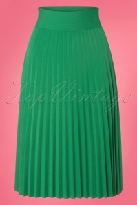 King Louie Border Plisse Skirt in Peapod Green 23113 20171221 0001w