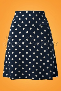 King Louie Polkadot Borderskirt Blue 107 39 13808 01222015 06W