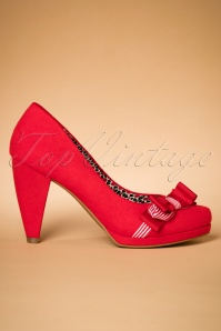 60s Susanna Pumps in Red