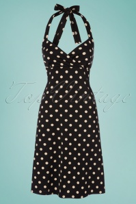 King Louie Polkadot Black Halter Dress 100 14 23098 20180122 0004W