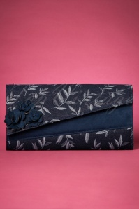 50s Oxford Denim Clutch in Navy