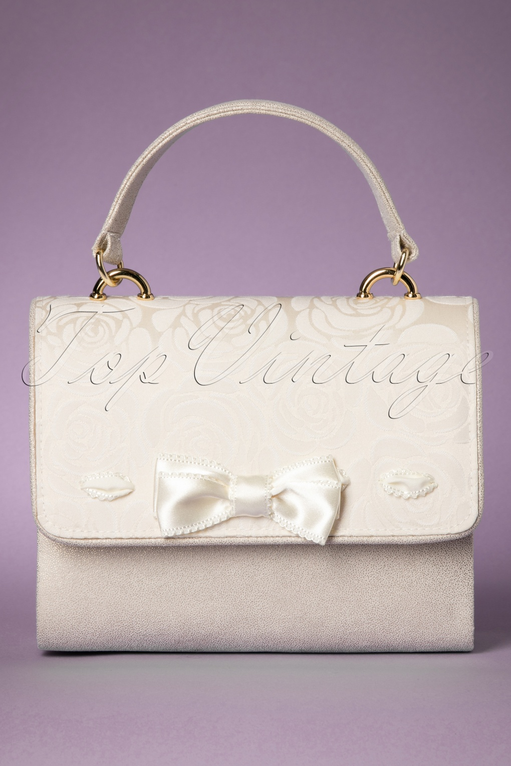 Vintage & Retro Handbags, Purses, Wallets, Bags 60s San Marino Handbag in Cream £48.80 AT vintagedancer.com