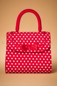 50s Santiago Handbag in Red Spots