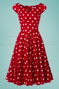 Bunny Nicky 50's Red Polkadot Dress 102 27 24030 20180123 0013w