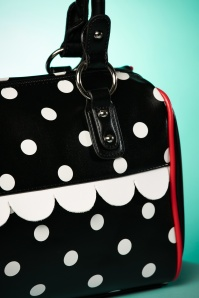 Dancing Days by Banned Black Polkadot Handbag 212 10 24102 24012018 018