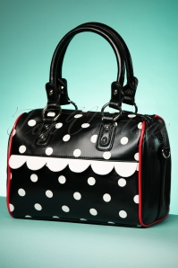 Dancing Days by Banned Black Polkadot Handbag 212 10 24102 24012018 016W