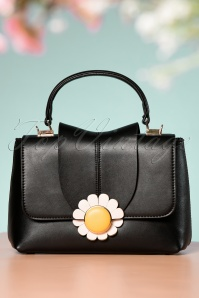 60s Daisy Handbag in Black