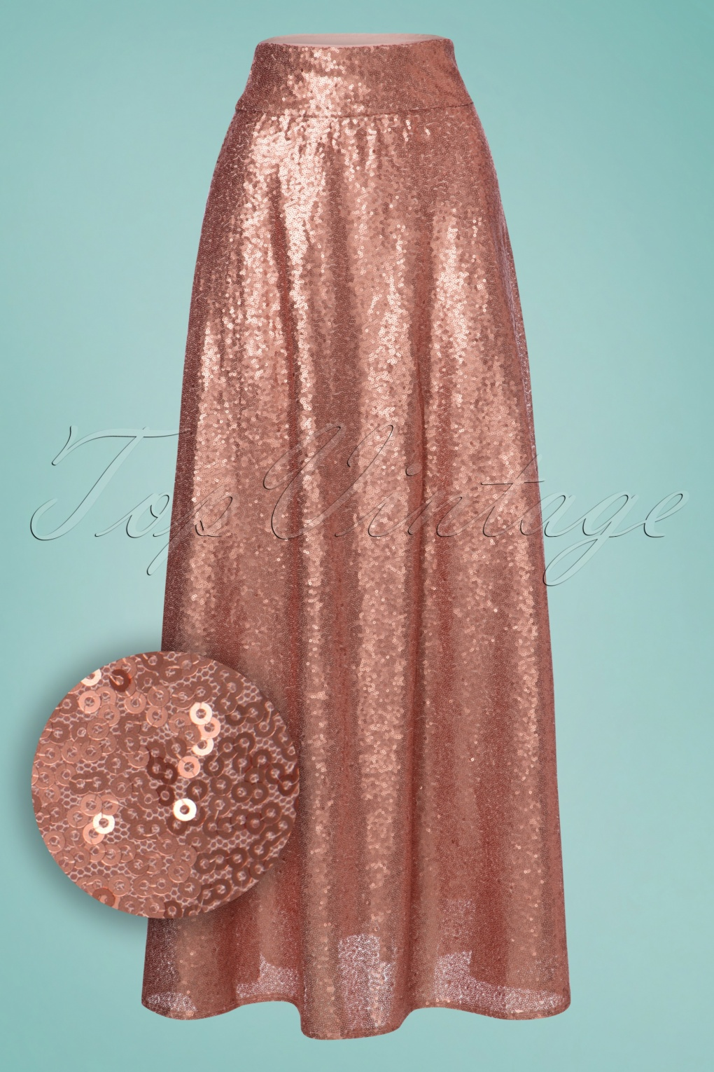60s Skirts | Mini, Tweed, Plaid, Denim Skirts 70s Boogie Sequins Maxi Skirt in Pink £81.51 AT vintagedancer.com