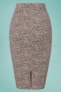 Vintage chic Tweed Effect Botton Pencil Skirt 120 15 24528 20180124 0007W