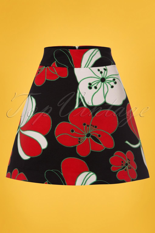 Retro Skirts: Vintage, Pencil, Circle, & Plus Sizes 60s Be Bold Mini Skirt in Black £48.50 AT vintagedancer.com