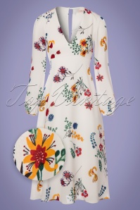 Traffic People Mama Mia White Floral Dress 102 59 23602 20180124 0003wv