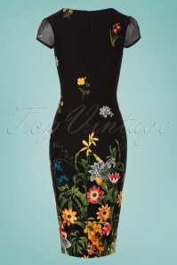 Vintage Chic Floral Border Pencil Dress 100 14 24478 20180125 0006W