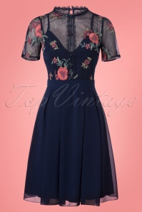 50s Freda Prom Dress in Navy