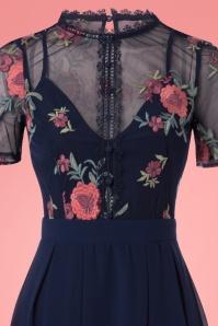 Little Mistress Navy Floral Dress 102 31 23912 20180126 0004c