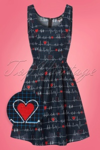60s Heartbreaker Swing Dress in Blue