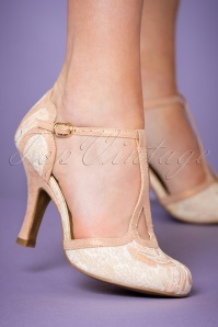 Ruby Shoo Polly Pumps Peach 401 22 22711 model 25012018 004W
