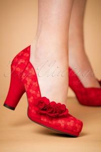 Ruby Shoo Charlotte Red Pumps 400 20 22704 model 25012018 007W