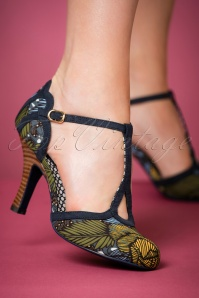 Ruby Shoo Polly T strap Jungle Pumps 401 14 22697 model 25012018 002W