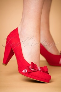Ruby Shoo Susanna Red Pumps 400 20 22706 model 25012018 004W