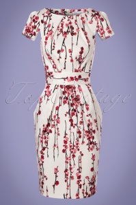 Closet London Floral White Tulip Dress 100 59 24460 20180125 0002w