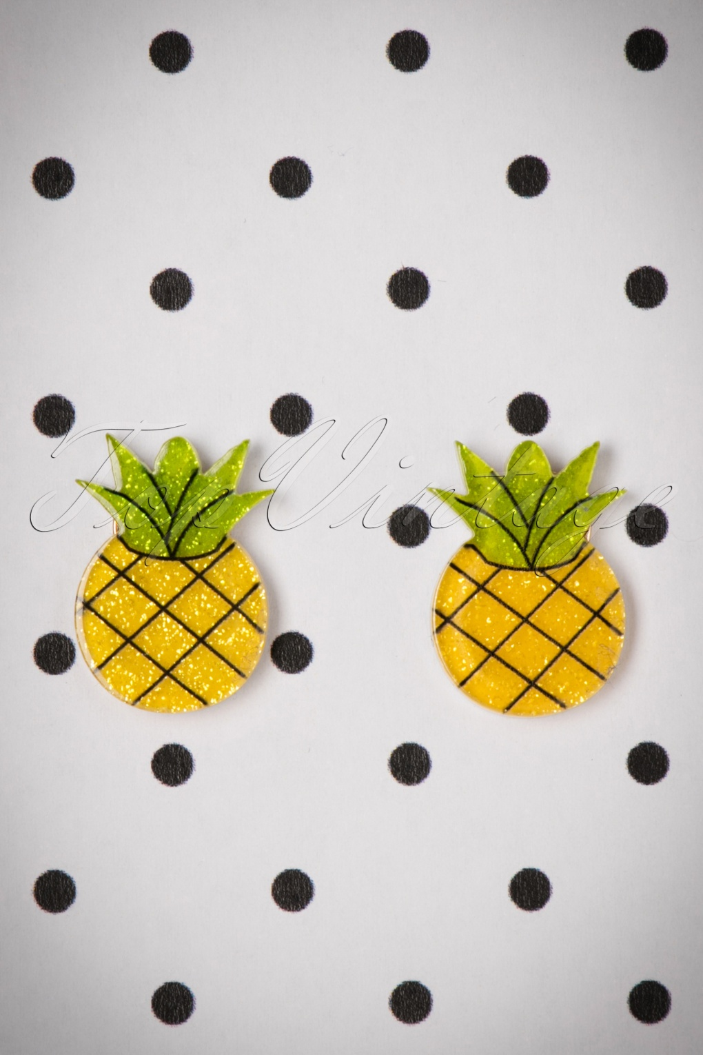 Vintage Style Jewelry, Retro Jewelry 60s Pineapple Stud Earrings in Yellow £8.84 AT vintagedancer.com