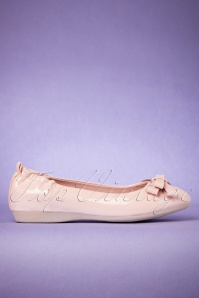Pinup Couture Pale pink Round Toe Ballerinas 410 22 24632 31012018 001W