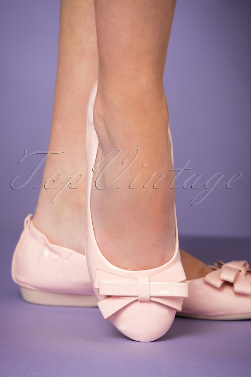 Pinup Couture Pale pink Round Toe Ballerinas 410 22 24632 25012018 009W